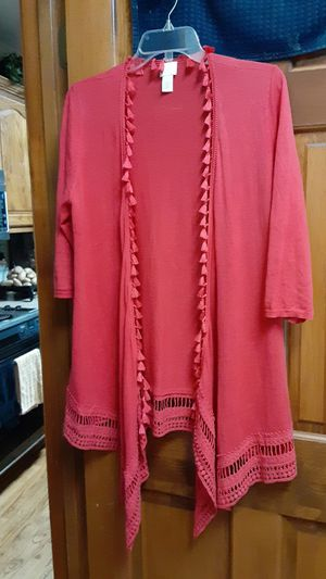 Chico's size 1(8/10) red duster for Sale in Overland Park, KS