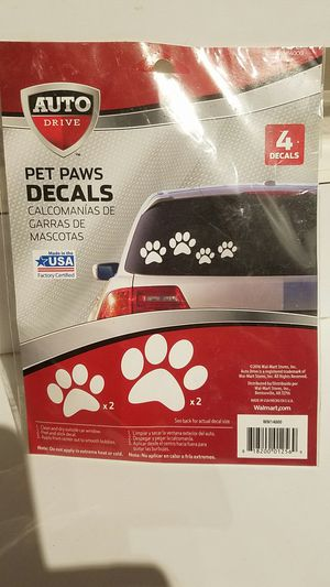 Pet paws decal sticker car or anything for Sale in Palm Bay, FL