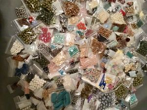 Lots of reclaimed beads from jewelry, cleaned, make your creations unique, prices vary per bag for Sale in Chesapeake, VA