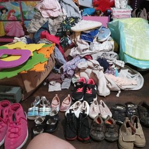 Free Baby Boy Clothes And Baby Girl Clothes And Some Adult Clothes And Shoes Too For Toddlers for Sale in Los Angeles, CA