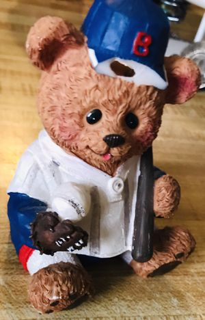 "3"" inch like new baseball teddy bear piggy bank located off lake mead and jones area asking $2 for Sale in Las Vegas, NV"