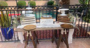 Brown rustic table for Sale in Lynwood, CA
