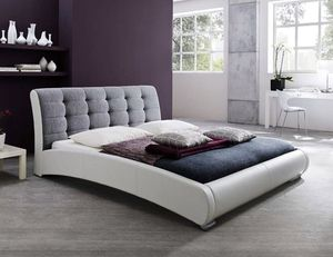 Baxton Studio Contemporary Faux Leather Fabric Upholstered Tufted Platform Bed, King for Sale in Broadview Heights, OH