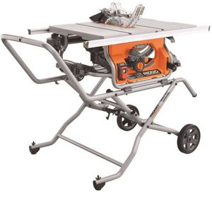 Ridgid Heavy Duty 10 Inch Job Site Table Saw With Stand for Sale in Morrisville, PA