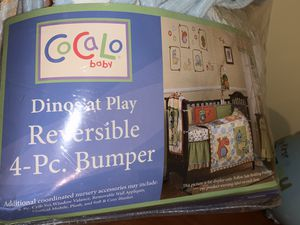 Cocalo Dinos at Play Complete Crib set, mobile, valance, decals & plush for Sale in Mt. Juliet, TN