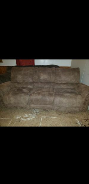 Microfiber recliner couch for Sale in Federal Dam, MN