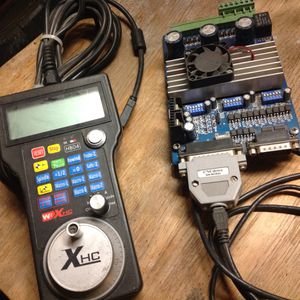 3-axis CNC stepper motor controller, with CNCDrive controller, Mach-3 software, and HBO-4 pendant for Sale in Oakley, CA