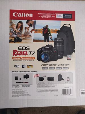 Canon T7- Brand New Dual Lense with full pack for Sale in Rockville, MD