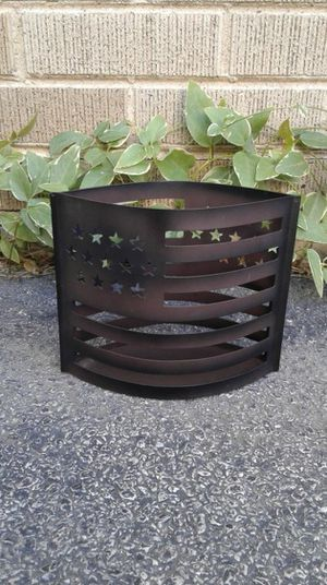 American Flag Metal Candle holder/ Decor for Sale in Homewood, IL