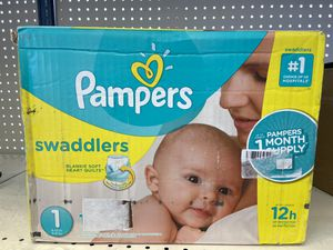 Diapers Newborn/Size 1 (8-14 lb), 198 Count - Pampers Swaddlers Disposable Baby Diapers, ONE MONTH SUPPLY for Sale in Las Vegas, NV