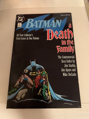 Batman Death In The Family Trade Paperback First Print Very Good Condition for Sale in Manalapan Township, NJ