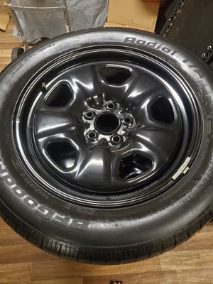 4 Fumagalli 18 x 7 1/2 black steel rims and BFF Goodrich P245/55R18 tires for chevy 2012 to 2015 camaro both in good condition for Sale in Dolton, IL