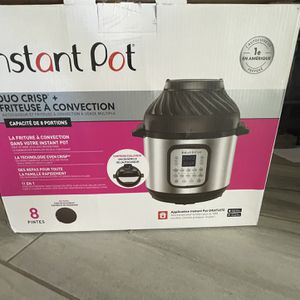 Instant Pot Duo Crip + Air Fryer, 8qts Brand New, Never Use, $150, Cash And Pick Up Only, Southern Ave And Loop 202 for Sale in Laveen Village, AZ