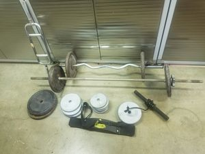 230 lbs weights bars curl forearm for Sale in Placentia, CA