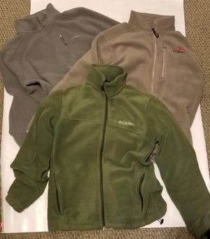 2 LL Bean and 1 Columbia Fleece Jackets for Sale in Daly City, CA