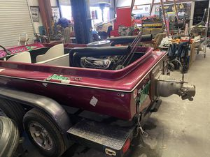 Jet boat. Very fast. 460 Ford W trailer. Tittle for both. TRADE FOR Diesel truck or truck capable of towing 10k for Sale in Las Vegas, NV