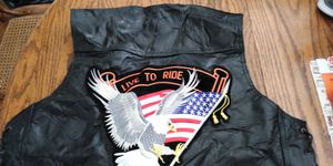 Motorcycle vest genuine leather for Sale in Springfield, TN