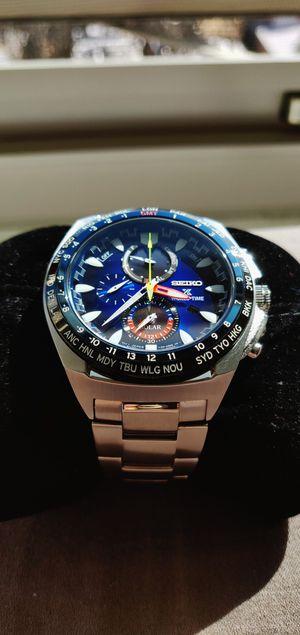 Seiko Solar, World Time, Stopwatch, Alarm for Sale in Philadelphia, PA