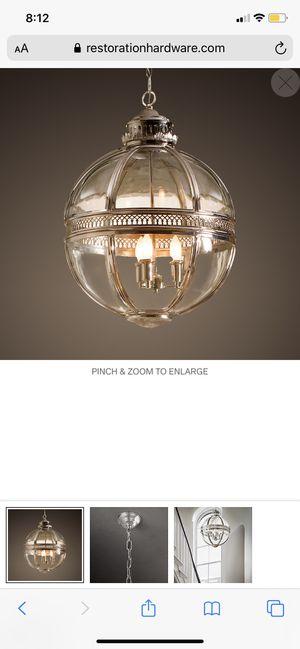 Restoration Hardware Victorian Hotel Pendant lighting fixture for Sale in El Cajon, CA