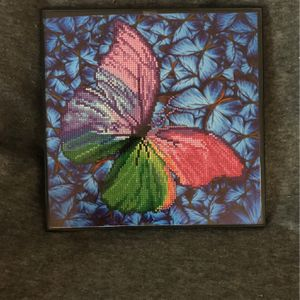 Beautiful Butterfly Diamond Art Picture for Sale in Columbus, OH