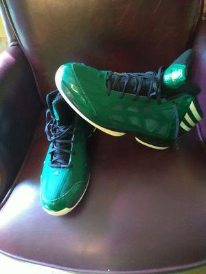 Men's adidas green and white sz 12 for Sale in Rustburg, VA