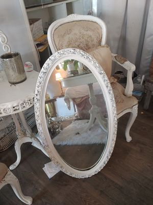 Gorgeous painted antique Oval mirror with rose details for Sale in San Diego, CA