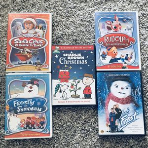 Christmas Movies DVD Rudolph Frosty Santa Claus Jack Frost for Sale in Fontana, CA