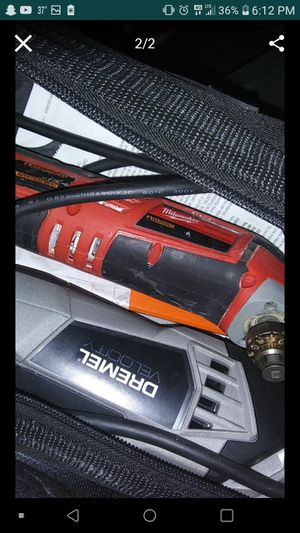 Milwaukee angle drill and a dremel high velocity grinder for Sale in Bolingbrook, IL