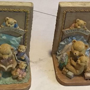Vintage Teddy's Day Out Decorative Bookends for Sale in Nashville, TN