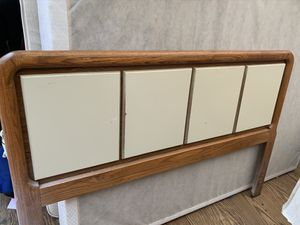 Queen size wooden headboard and bed frame for Sale in Salisbury, NC