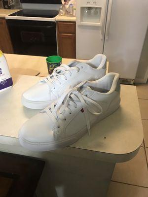 Men's Levi's White Shoes size 13 perfect condition for Sale in San Antonio, TX