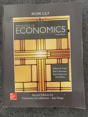 Principles of Economics 6th Edition McGraw Hill UC San Diego for Sale in Manhattan Beach, CA