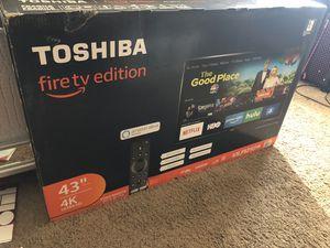 Toshiba 43 INCH LED TV 4K ULTRA HD AMAZON ALEXA FIRE TV EDITION for Sale in Peoria, AZ