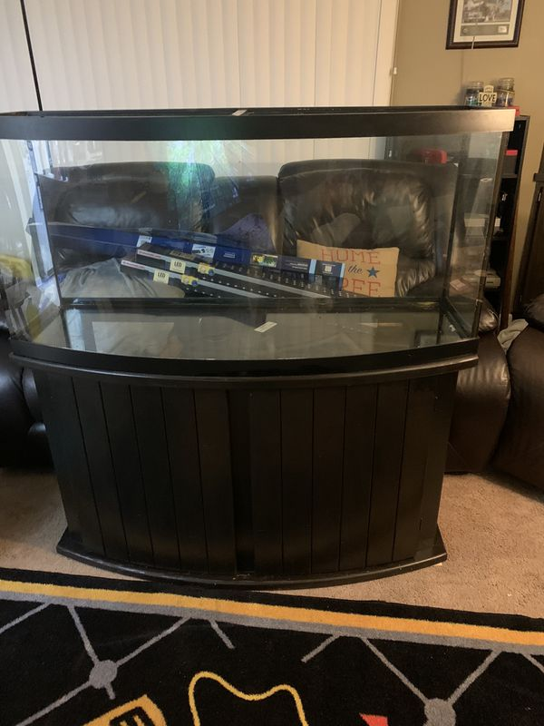 72 gallon bow front fish tank with stand