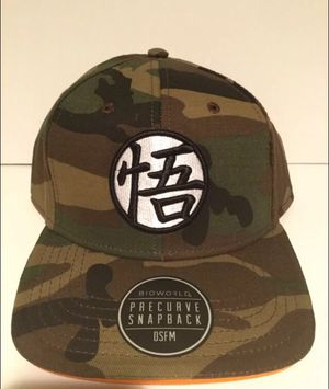 Dragonball Z Camo SnapBack hat. Brand new. One size fits all for Sale in Parma, OH