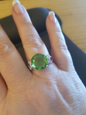 Size 10, 11&12 Sterling Silver Peridot Ring for Sale in Knoxville, TN