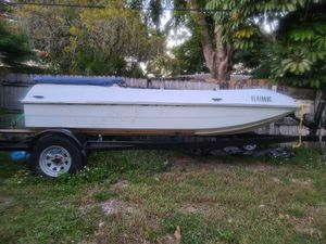 Shuttlecraft boat! Fits yamaha jet ski or seadoo! Last two photos is when they are new. No bimini top.$1300obo for Sale in Miami, FL
