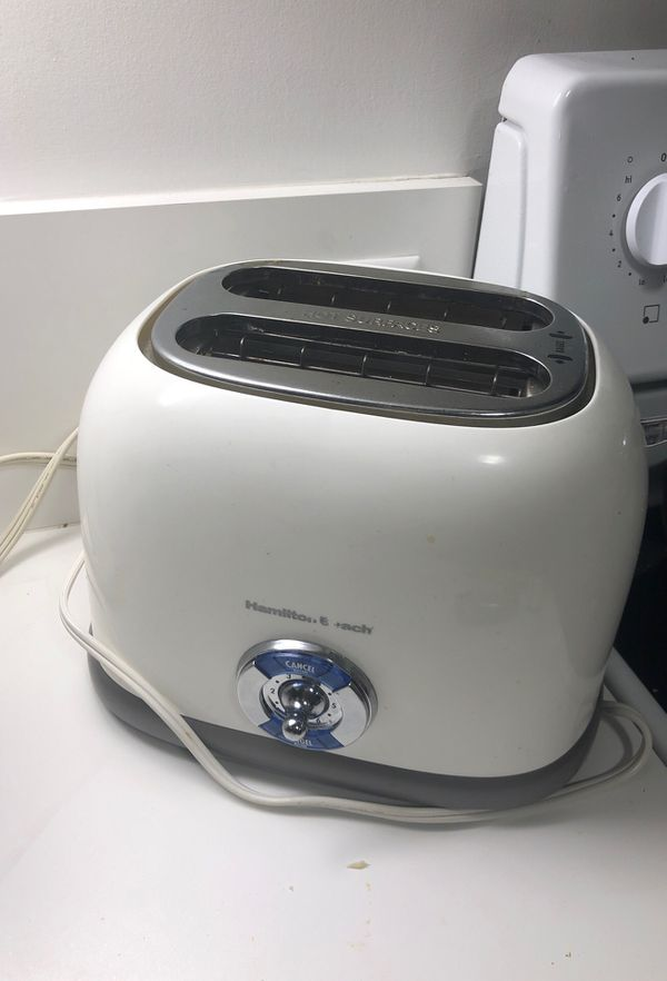 Nothing fancy just a toaster (can fit bagels!) and water heater! Nothing wrong with them I just upgraded!!