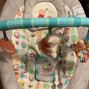 Disney Baby Winnie The Pooh Dots & Hunny Pots Bouncer for Sale in New Port Richey, FL