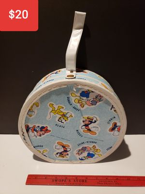 1950s Walt Disney Hat Box - Mickey Minnie Mouse Donald Daisy Duck Pluto for Sale in Reinholds, PA