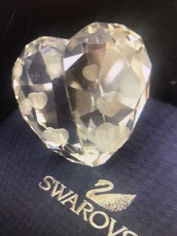Swarovski Heart Shape Crystal With Box for Sale in Kirkland,  WA