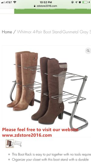 Whitmor 4-Pair Boot Stand-Gunmetal Gray Shoe Organizer for Sale in Houston, TX