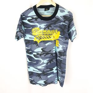 Vintage 80s men's medium camo barons baseball t shirt tee for Sale in San Diego, CA