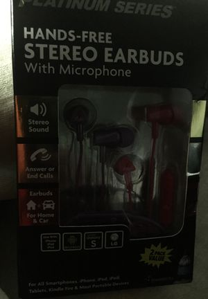 Earbuds with microphone. Hands free with wires. for Sale in Lansing, IL