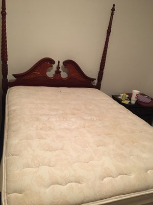 Bed mattress and bed frame - Used for Sale in Corpus Christi, TX