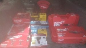 Milwaukee DeWalt husky power tools all brand new almost go tonight best offer takes all what you see in the picture for Sale in Oakland, CA