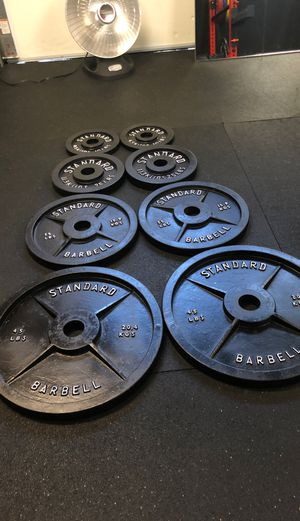 230lb Cast Iron Weight Plate Set (Exercise, Gym) for Sale in Clovis, CA