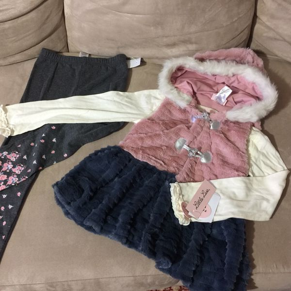 Cute Sets For Girls 3 Pieces Size 5 , 6 , 6X