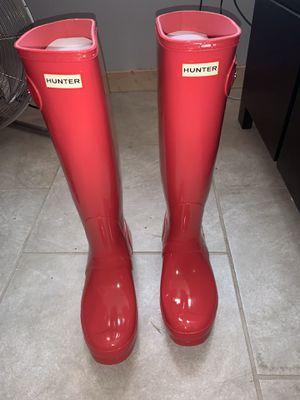 Women's size 10 hunter rain boots for Sale in Chicago, IL