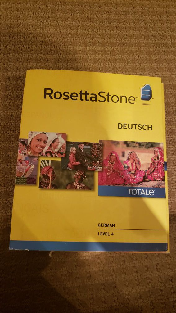 Rosetta Stone German levels 1-4